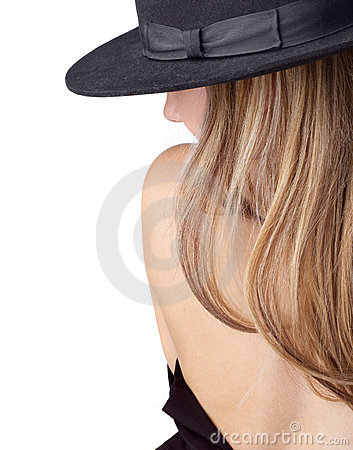 Free Undressing Blong In Hat Royalty Free Stock Photos - 3857058