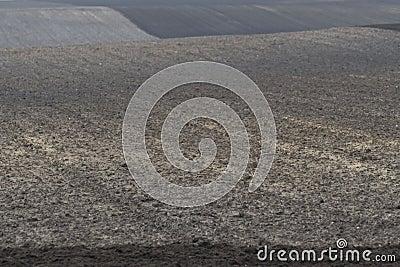 Undulating arable land