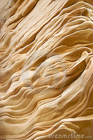 Undulating Sandstone Rock Layers