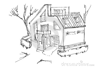 maison moderne de dessin images stock image 26209994 - Maison Moderne Dessin