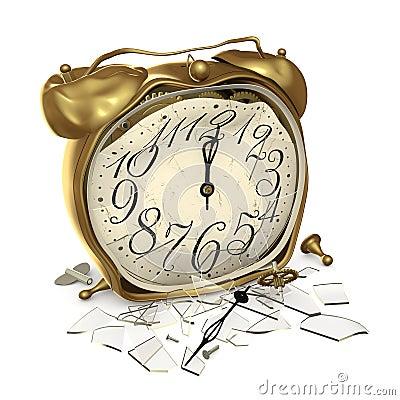 Une horloge cassée