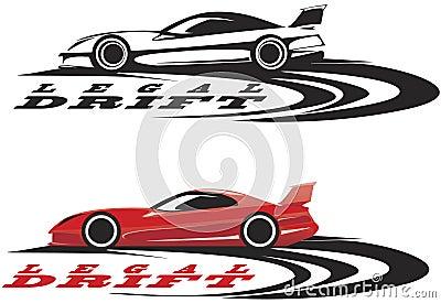 Emblème de voiture de sport
