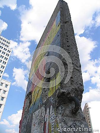 Une partie du mur de Berlin