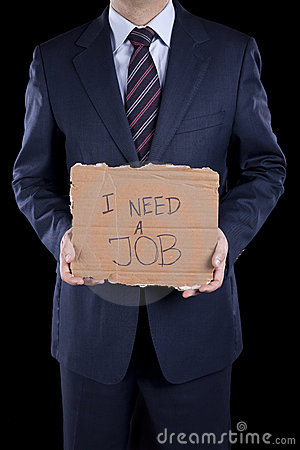 Unemployed businessman