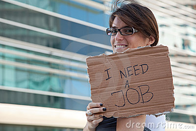 Unemployed woman