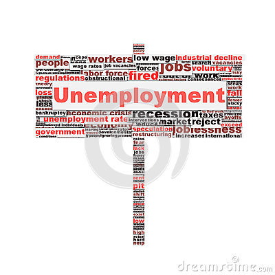 Unemployment symbol conceptual design
