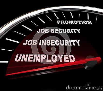Unemployment - Words on Speedometer
