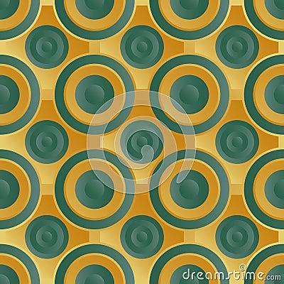Unending raster gold green