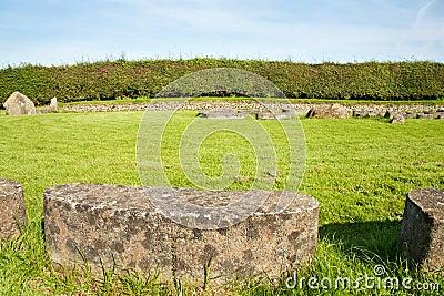 UNESCO Heritage - circle of stones at Newgrange
