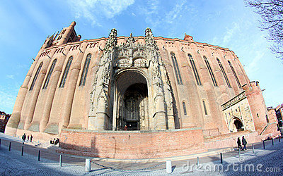 UNESCO Heritage Site Albi Cathedral in France Editorial Image