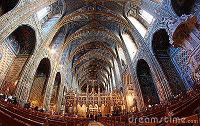 UNESCO Heritage Site Albi Cathedral in France Editorial Stock Image
