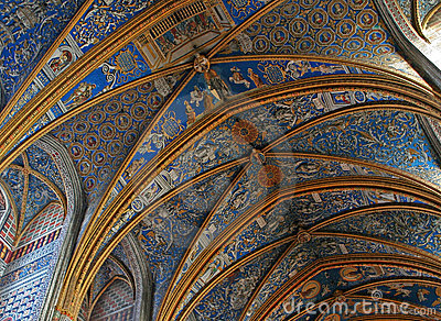 UNESCO heritage site Albi Cathedral transepts