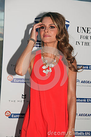 UNESCO welcomes the journalist and actress Maria Menounos Editorial Image