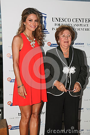 UNESCO welcomes the journalist and actress Maria Menounos Editorial Photo