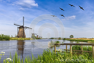 Unesco world heritage windmill