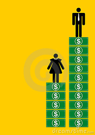 Unfair salary scale for women