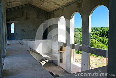 Unfinished building inside