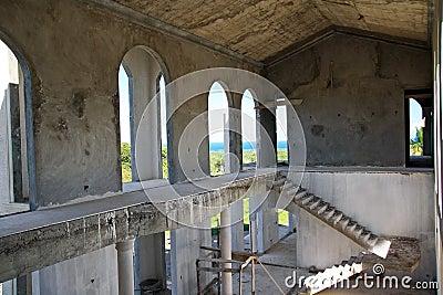 Unfinished building inside
