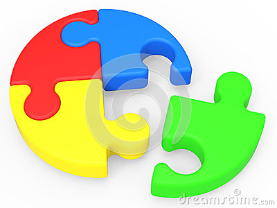 Unfinished Puzzle Shows Solving And Ending