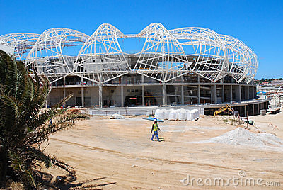 Unfinished soccer stadium Editorial Stock Image
