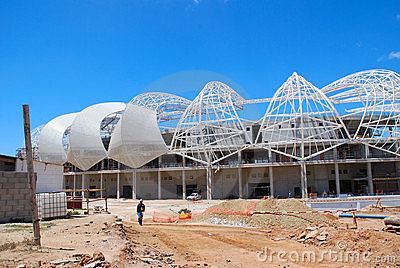 Unfinished soccer stadium Editorial Stock Image