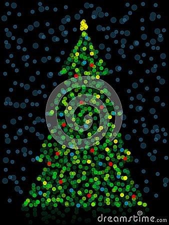 Unfocused Christmas Tree