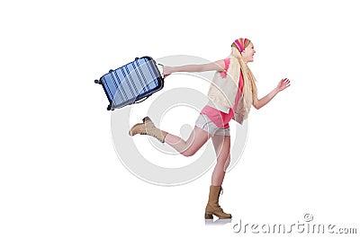 Ung kvinna som är klar för sommarsemester