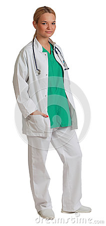 Ung kvinnadoktor