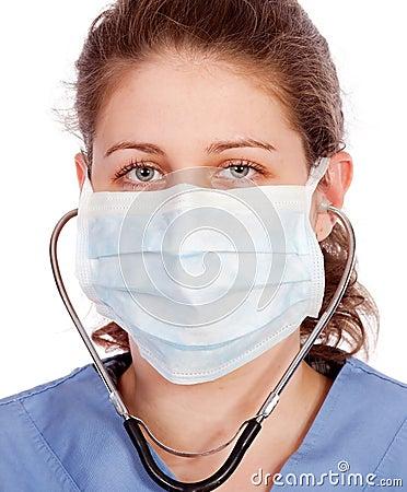 Ung medicinsk arbetare