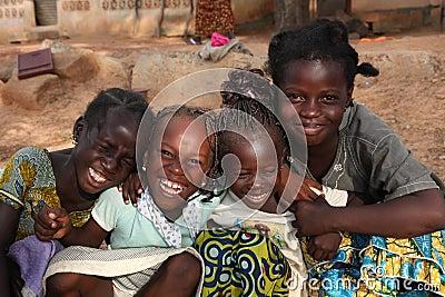 Unga flickor Redaktionell Bild