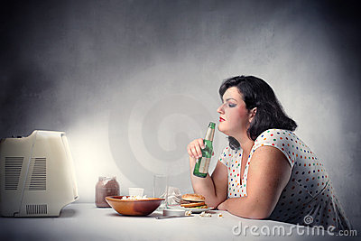 Ungesundes Abendessen
