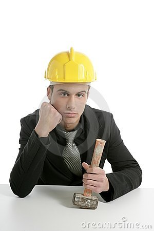 Unhappy architect engineer that lost his work