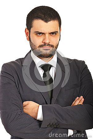 Unhappy business man