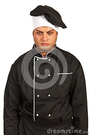 Unhappy chef