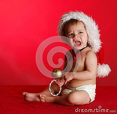Unhappy christmas baby