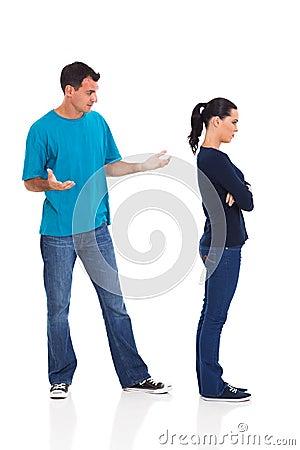 Unhappy young couple