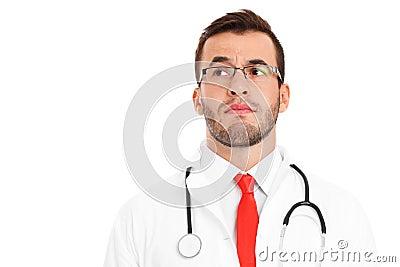Unhappy Doctor Stock Photo - Image: 45832900  Unhappy Doctor