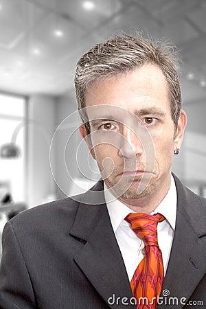 Unhappy executive