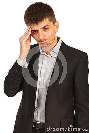 Unhappy executive man