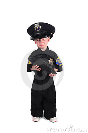 Free Unhappy Police Officer Holding A Ticket Book Royalty Free Stock Photography - 15644937