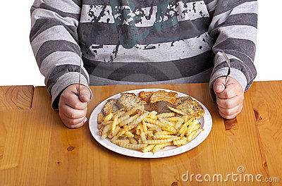 Unhealthy food Stock Photo