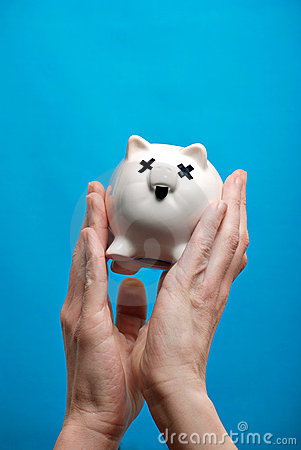 Unhealthy piggy bank