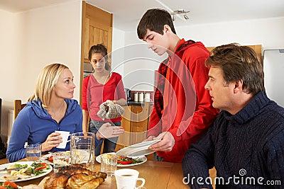 Unhelpful Teenage Clearing Up