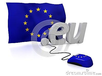 União Europeia em linha