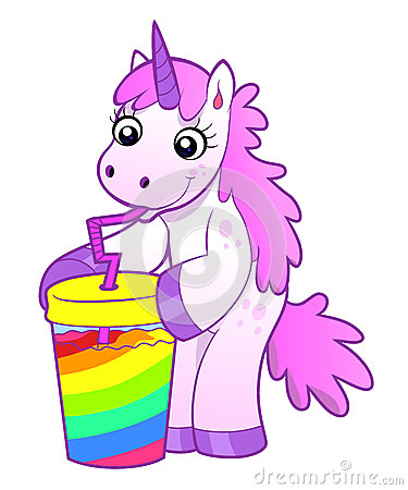 Free Unicorn Drinks Rainbow Cocktail Royalty Free Stock Photography - 45822247