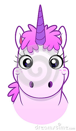 Unicorn face Vector Illustration