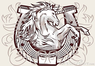 Unicorn Horseshoe Crest