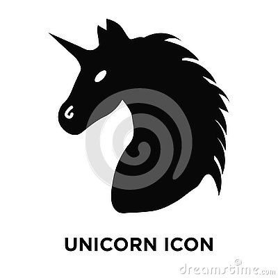 Unicorn icon vector isolated on white background, logo concept o Vector Illustration