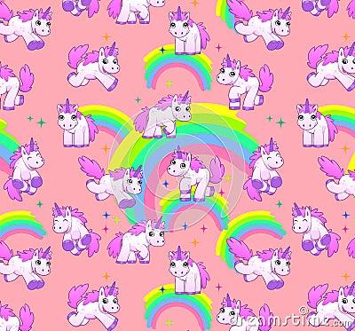 Free Unicorn Pattern Pink Royalty Free Stock Image - 39768626