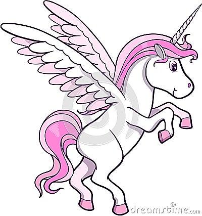 Free Unicorn Pegasus Vector Stock Photography - 6419092